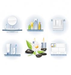 bath icon set vector image vector image