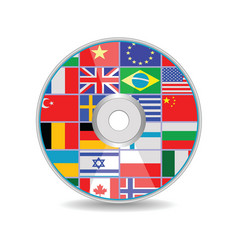 disk with flags vector image
