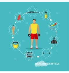 Healthy lifestyle concept in vector image vector image
