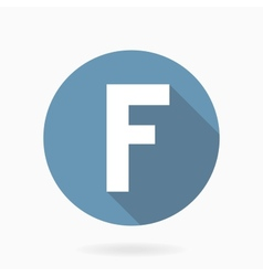 Letter F Icon With Flat Design vector image vector image