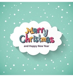Merry Christmas card Flat design vector image vector image