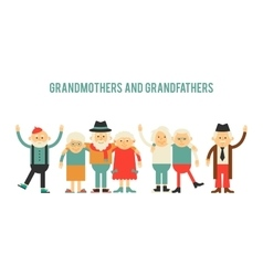 Older people in different costumes vector image
