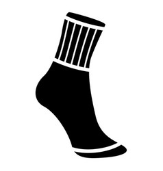 sock icon simple black style vector image