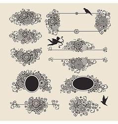 vingette romantic vector image vector image