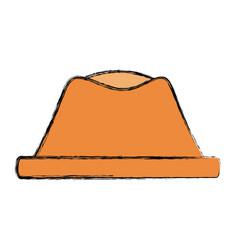 vintage hat fashion vector image vector image