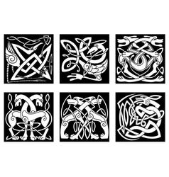 Celtic animals decorated irish ornament vector image vector image