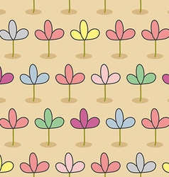 Flowers on a bed Garden Seamless floral pattern vector image