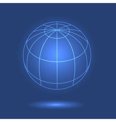 Model of globe vector image