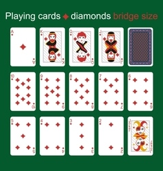 Playing cards Diamonds Bridge size vector image