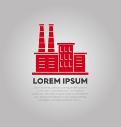red factory logo design - industry logo template vector image vector image