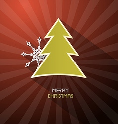 Retro Merry Christmas Dark Red Background With vector image
