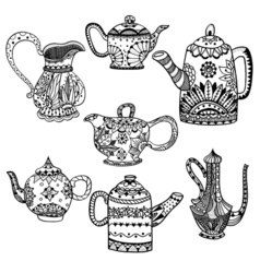Set Teapot isolated vector image