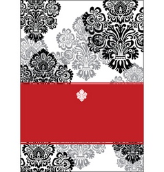 vector black and red background and white frame vector image vector image
