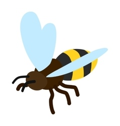 Bee icon isometric 3d style vector image vector image