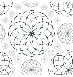 Dotted seamless pattern with circles and nodes vector image vector image