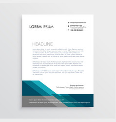 elegant letterhead design template with blue and vector image