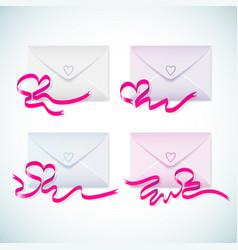 gift envelopes set vector image vector image