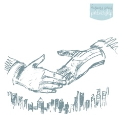 Handshake businessmen success partnership vector image vector image