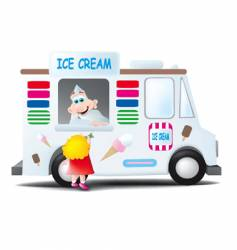 ice cream man vector image