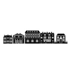 posh smart row of buildings vector image vector image