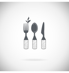 Set cutlery icons vector image vector image