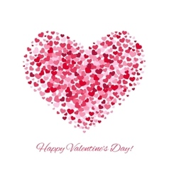 Valentines day love background with heart vector image