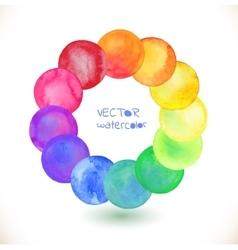 Watercolor rainbow frame vector image vector image