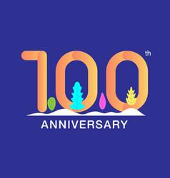 100 years anniversary celebration logotype vector image