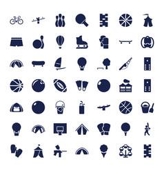 49 recreation icons vector