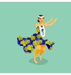 a Hawaiian hula dancer woman vector image