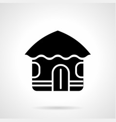 abstract hut glyph style icon vector image