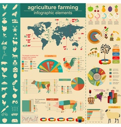Agriculture infographics vector