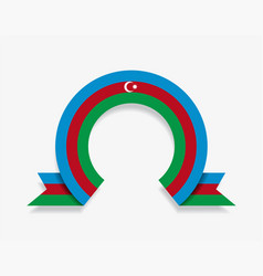 Azerbaijani flag rounded abstract background vector