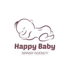 Baby logo template for nanny agency vector