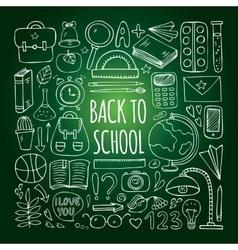 Back to school big doodles set vector image