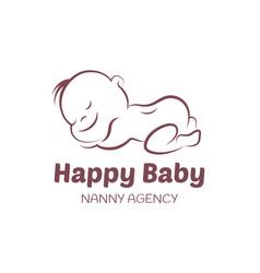 Balogo template for nanny agency vector