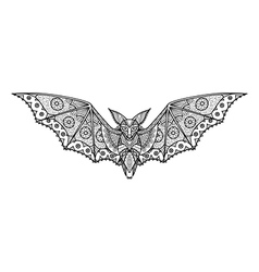 bat coloring page vector image