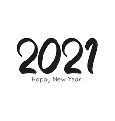 black number 2021 hand drawn vector image