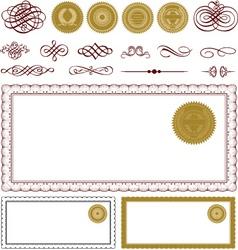 blank certificate frame set vector image