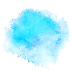 Blue watercolor stain isolated on white background vector