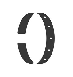 Bracelet or cuff jewelry icon glyph style vector