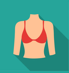 breast icon in flat style isolated on white vector image