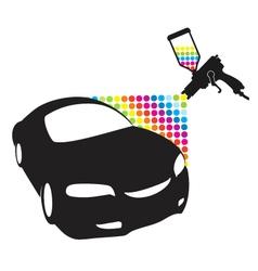 Car paint vector image