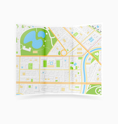 city map brochure vector image