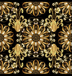 Classic golden seamless pattern classic vintage vector