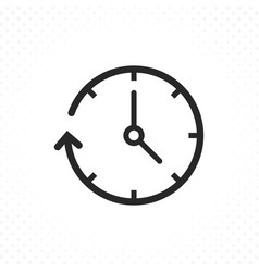 clock arrow icon vector image