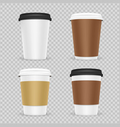 Coffee paper cups realistic vector
