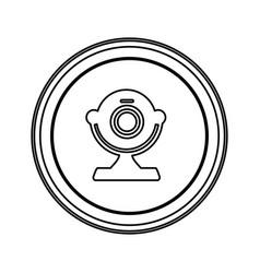 contour emblem computer camera icon vector image