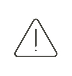 danger icon line warning symbol vector image