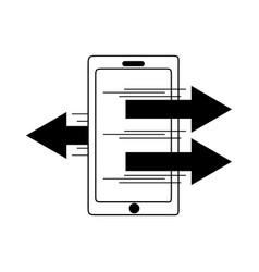 data analysis smartphone business transfer vector image